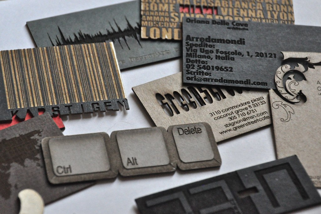 Laser cut business cards | Laser cut business cards by b typ… | Flickr