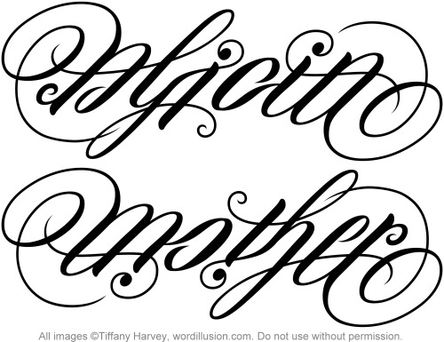 alicia mother ambigram a custom ambigram of the name flickr. Black Bedroom Furniture Sets. Home Design Ideas