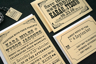 Typography Inspired Wedding Invitations | by Sarah Parrott