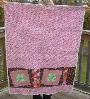 pink/green charity quilt back | by vickivictoria