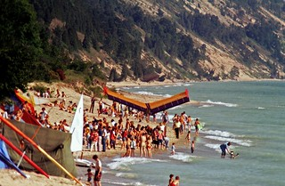 Elberta Beach During the Hang Gliding Heydays | by jimflix!