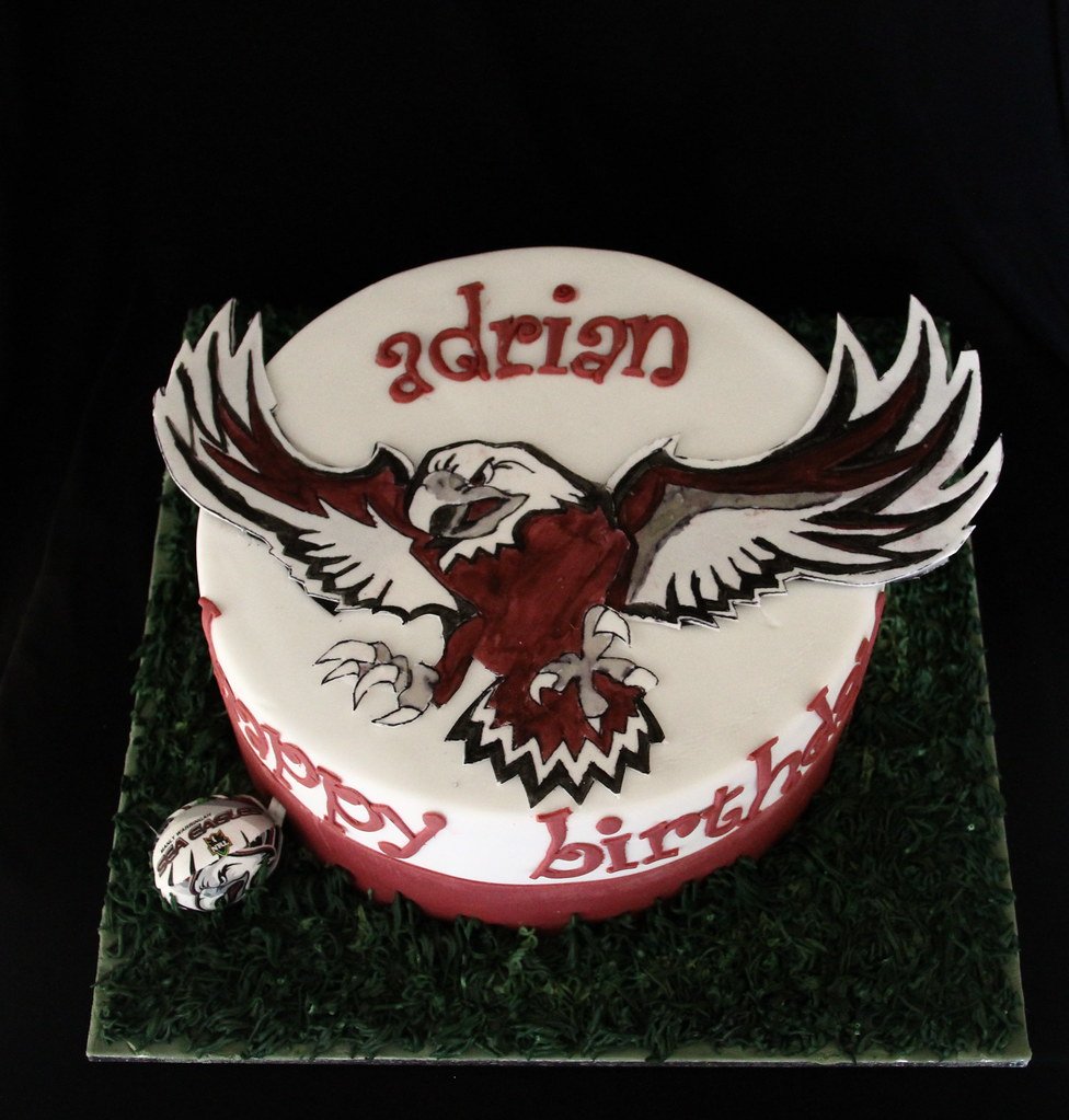 Manly Sea Eagles Birthday Cake AnitaA Flickr