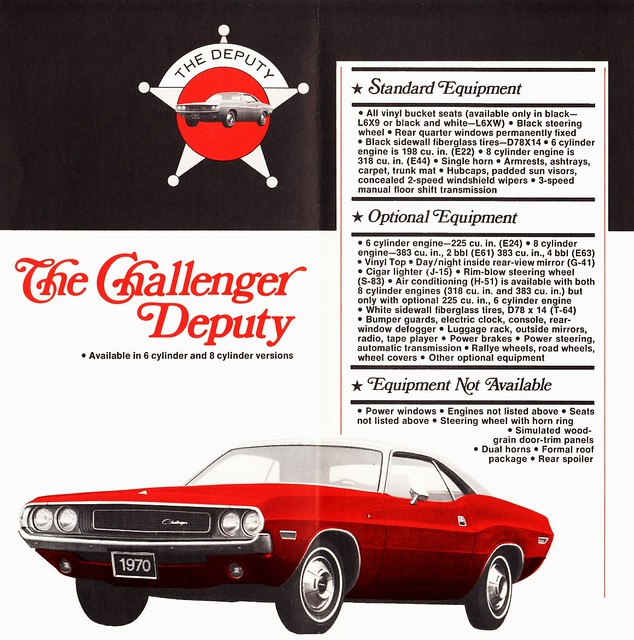 1970 Dodge Challenger Deputy Coupe Flickr Photo Sharing