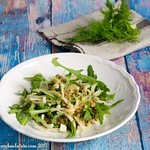 Rocket, fennel and lentil salad