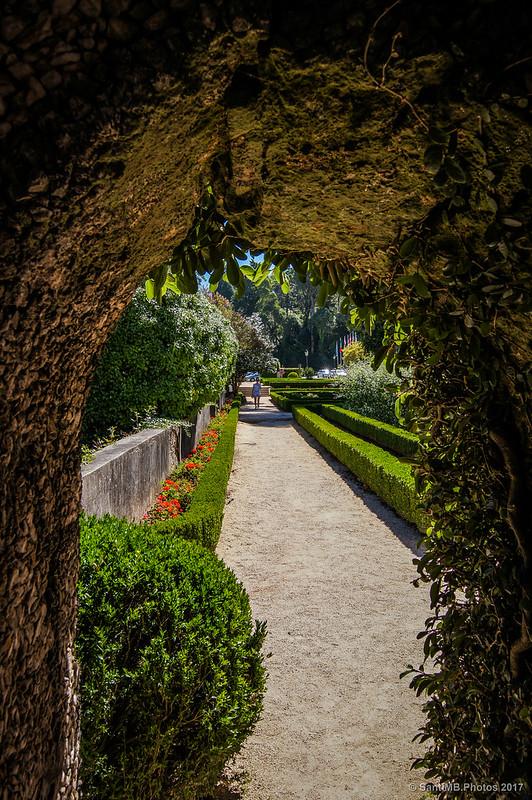 Jardín de delante del hotel Palace do Buçaco