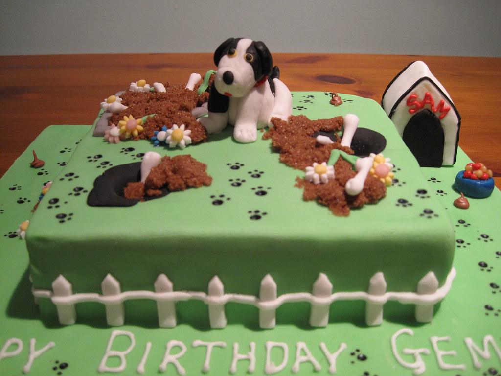 Puppy Dog Cake Design : Naughty Puppy Birthday cake Pauls Creative Cakes Flickr