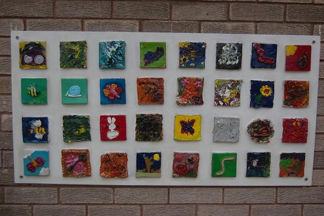Whickham Library Garden Mosaics unveiling Jun 10 18