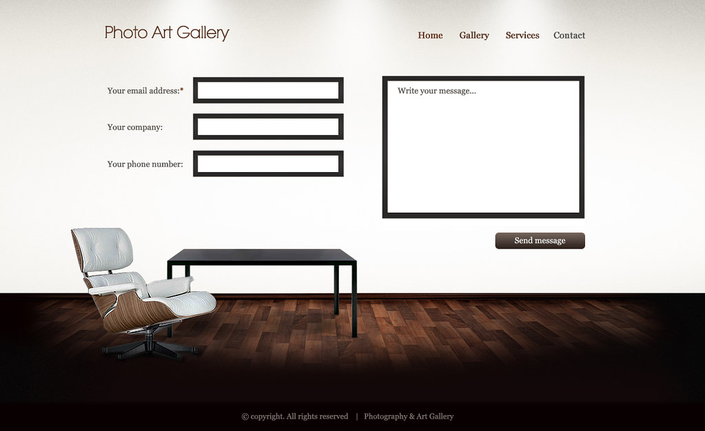 Art gallery htmlwp template contact template created fo flickr art gallery htmlwp template contact by themefuse maxwellsz