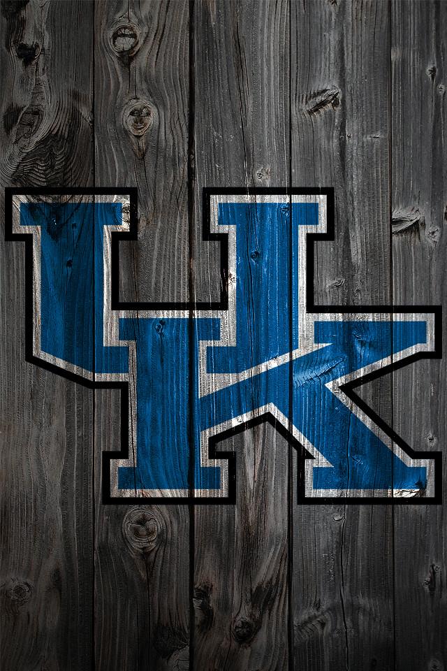 Kentucky Wildcats Wood IPhone 4 Background