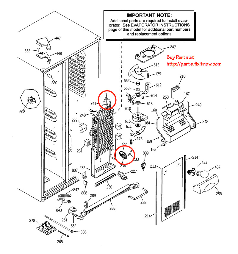 ge profile and arctica refrigerator thermistor locations
