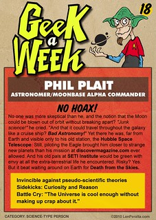 Geek A Week Challenge: #18: Phil Plait (cardback) | by jawboneradio