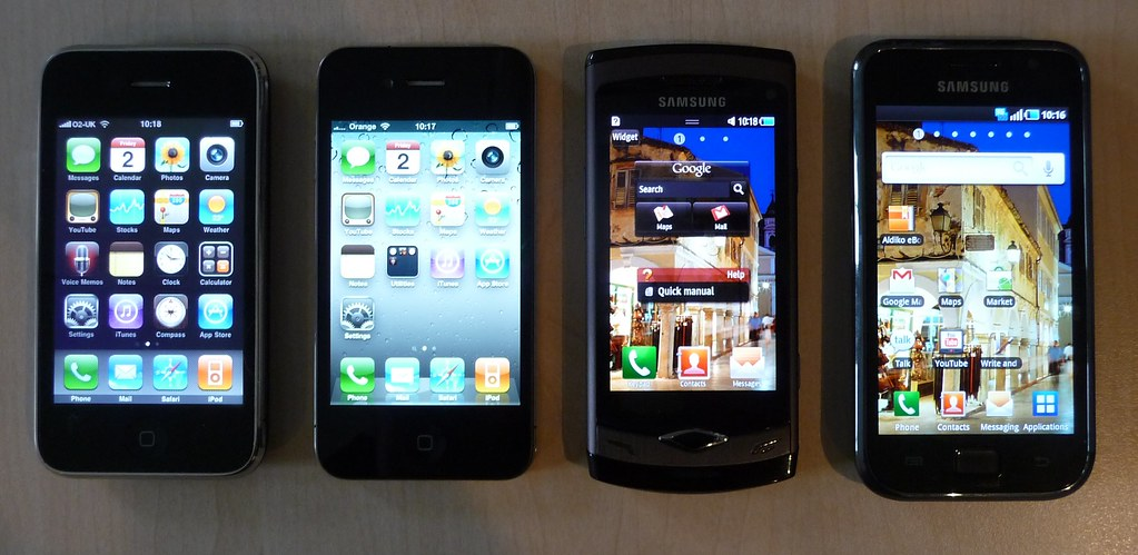 IPhone 3G S Vs 4 Samsung Wave Galaxy