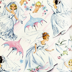 vintage bridal shower wrapping paper by wolfandwillow