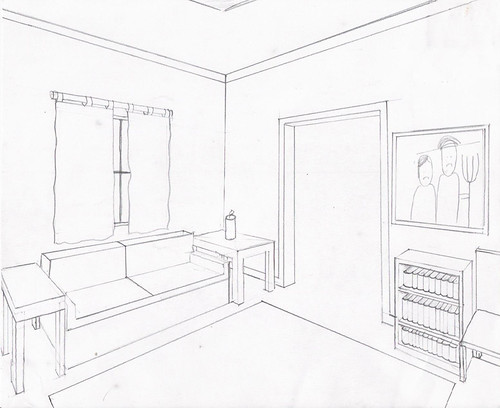 Two Point Perspective For This Sketch We Had To Draw A
