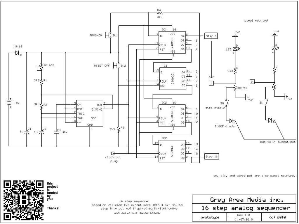 16 step sequencer schematic