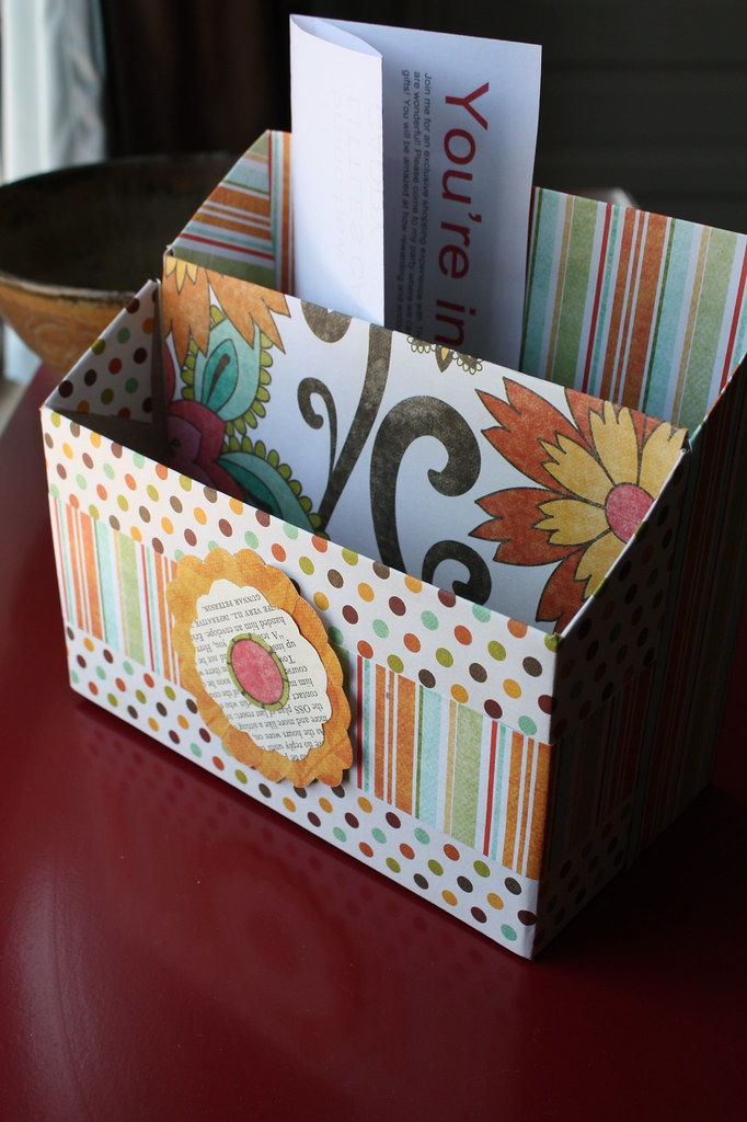 Recycled cereal box stationary organizer i made this for What to make out of cereal boxes