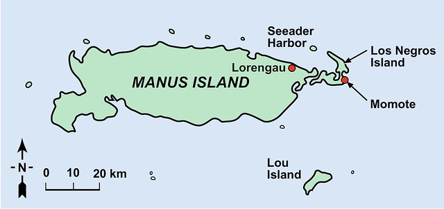 Map Manus Island And Nauru
