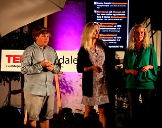 The TEDxAlmedalen hosts on stage! Anton, Johanna, Sofie IMG_8116 | by Johan Lange