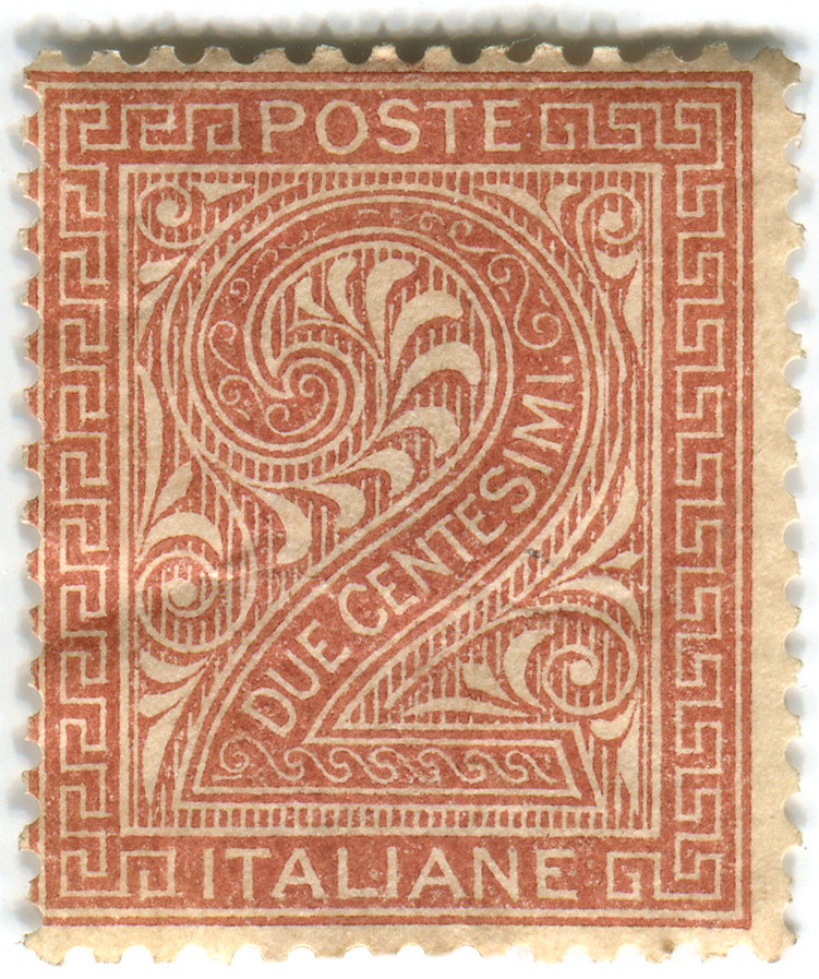 Italy postage stamp: due centesimi   c. 1860/70s   Karen ...