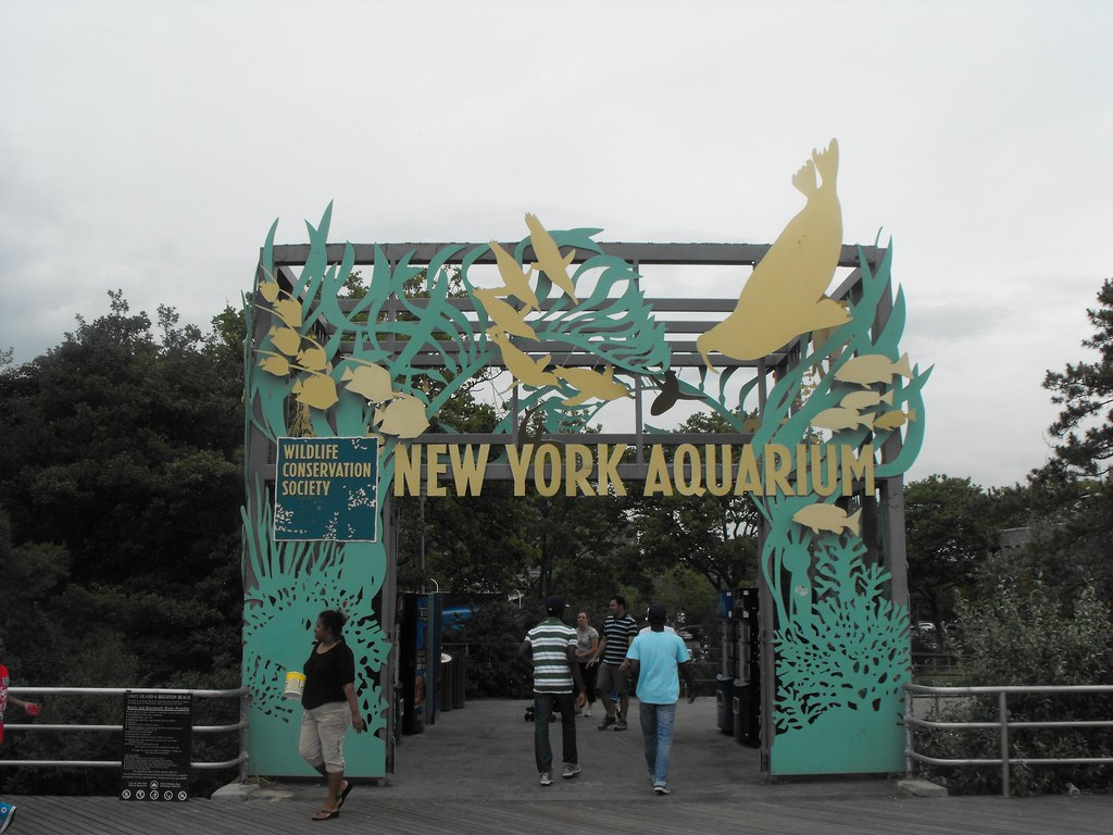 New york aquarium boardwalk entrance brooklyn new Aquarium in coney island