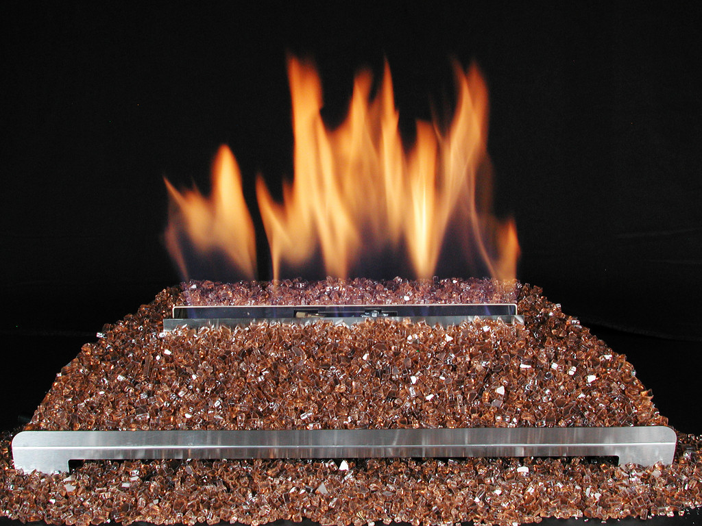 copper fire glass ventless glass gas log fireplace flickr
