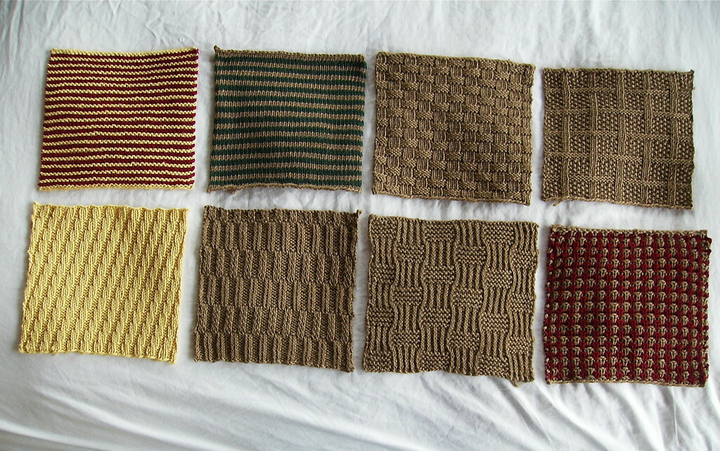 Knitting Seed Stitch Variations : Section I: Knit-Purl Combinations The first 8 squares of B? Flickr
