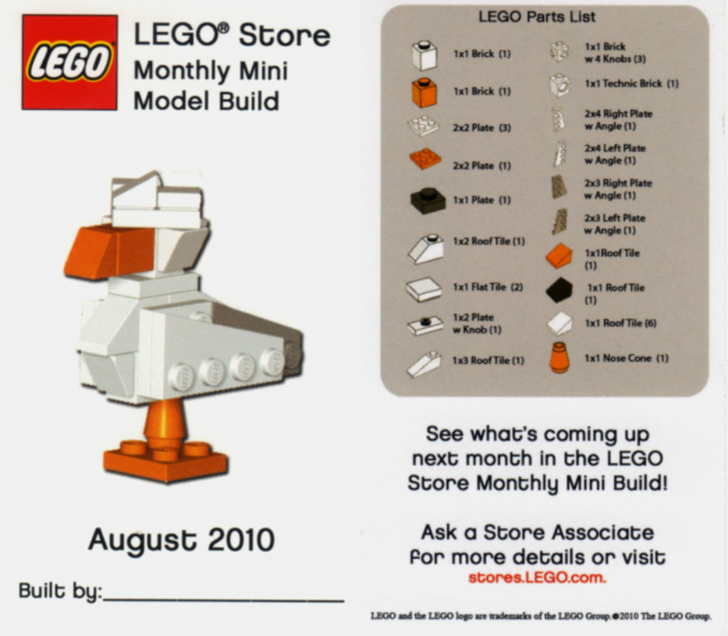 Lego Store Monthly Build August