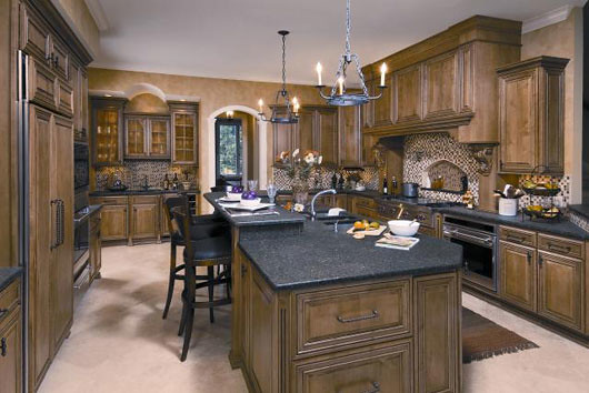 Tuscan kitchen decor ideas brown color tuscan kitchen for Small tuscan kitchen designs
