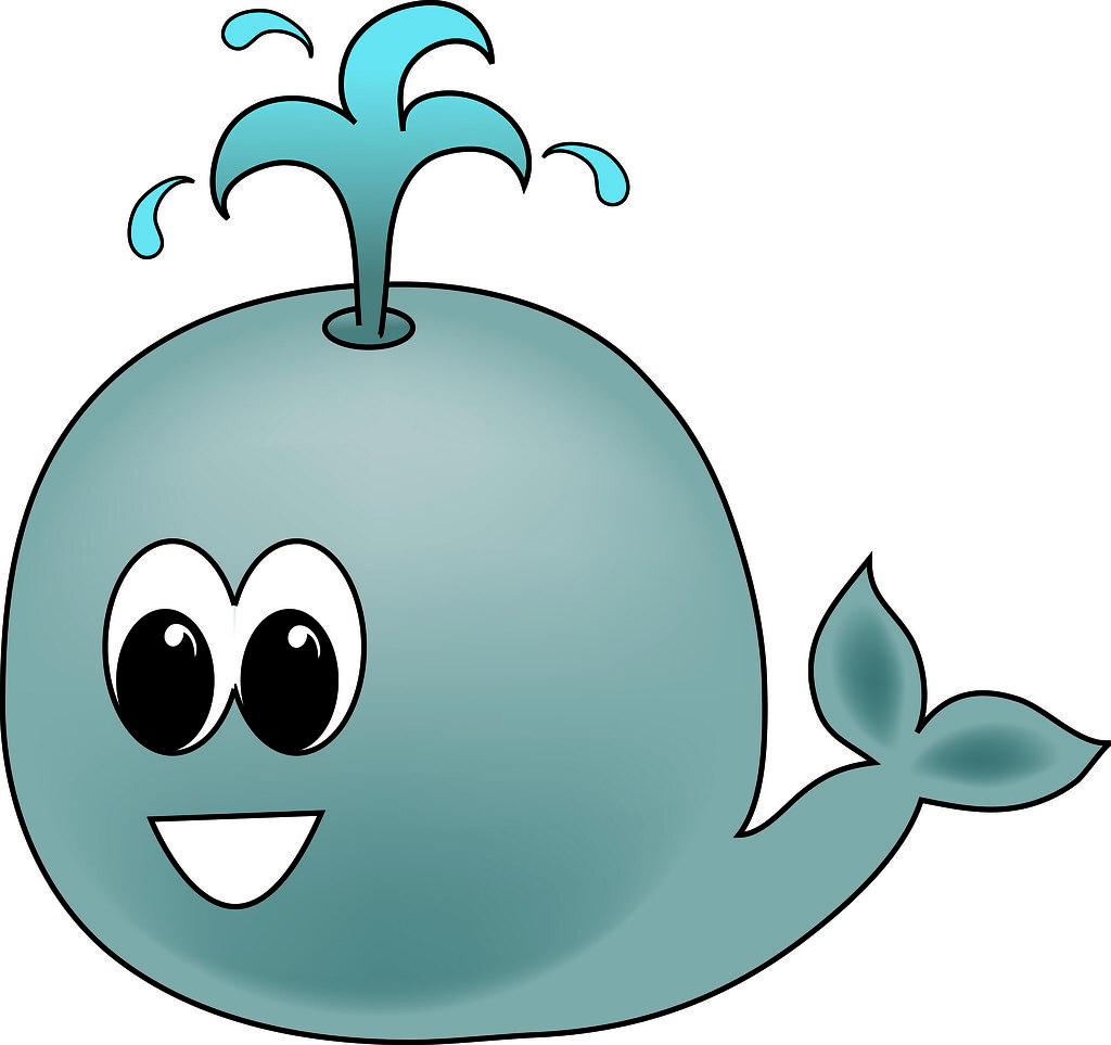 Clip art illustration of a cartoon whale clip art illustra