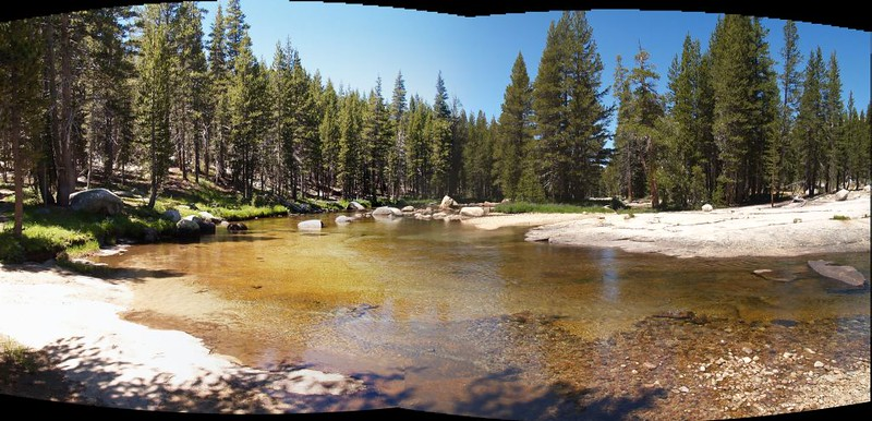 The Tuolumne River as it approaches Tuolumne Meadows