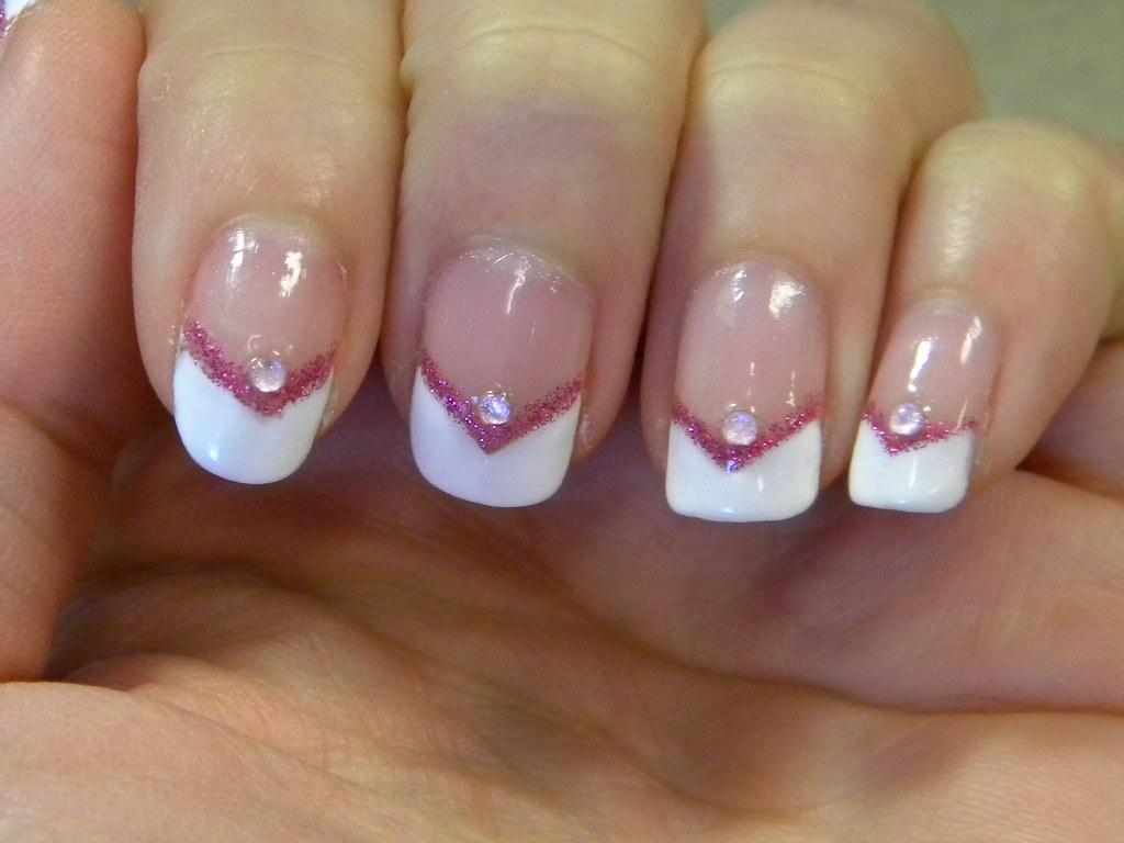 v-tip french nails | luvkonadnails | Flickr