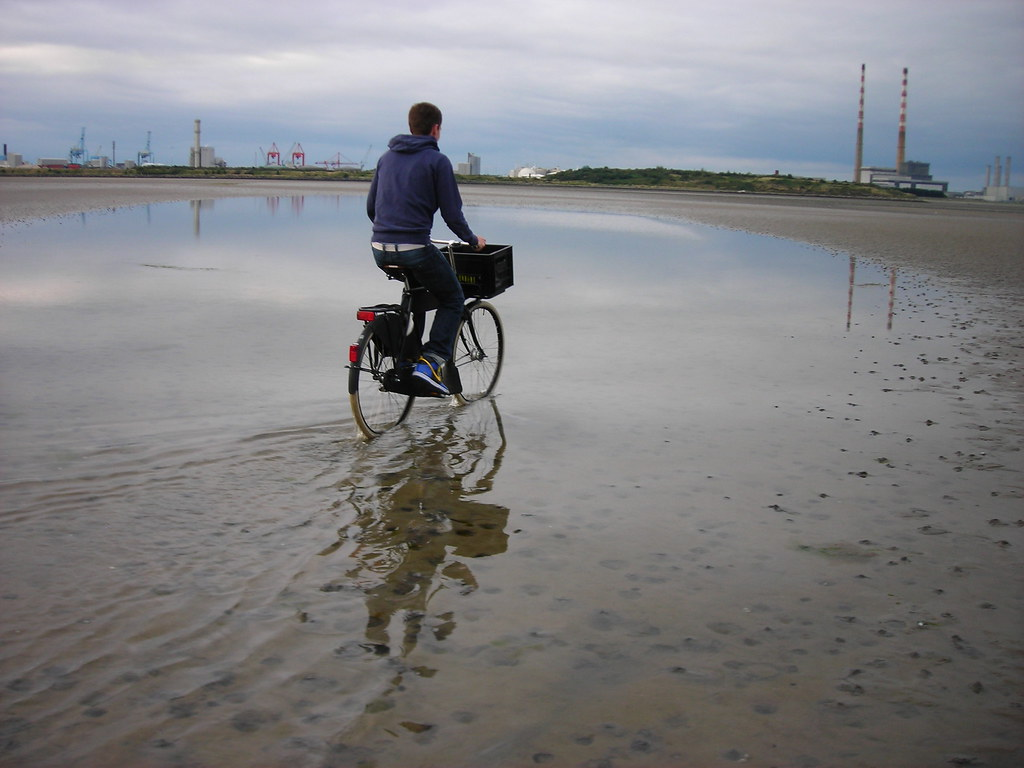 Cycling On Water With A Dutch Bicycle A Gentleman On A Dut Flickr