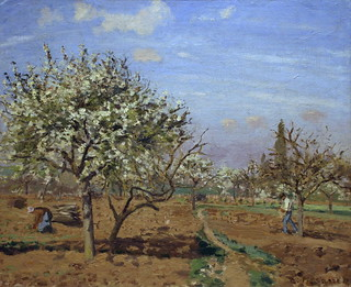 Orchard in Bloom, Louveciennes by Camille Pissarro | by cliff1066™