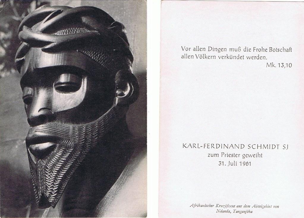 Priesterweihe Schmidt, Karl Ferdinand SI am 31.07.1961
