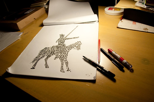Don Quixote, a man of letters [in progress] | by ninastoessinger