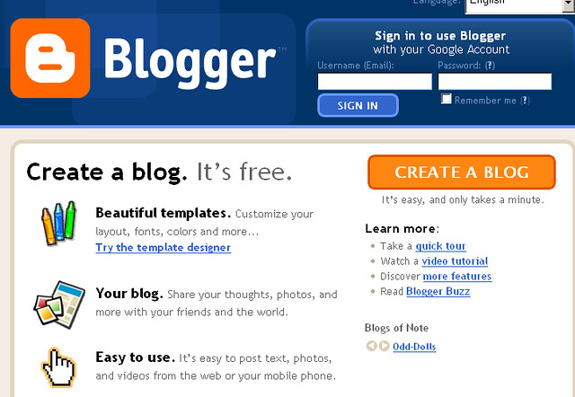 How to create free blog using blogspot flickr photo for Build blog