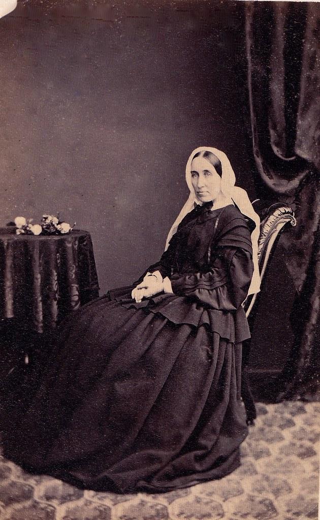 Mrs. Guest in Widows Weeds, English Carte de Visite, 1862…  Flickr