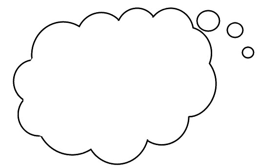 Think Balloon 1a This Clipart Image May Be Downloaded