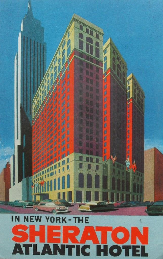 1960s SHERATON ATLANTIC Hotel NEW YORK CITY 34th Street Br