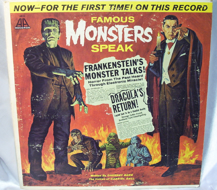 Famouse Monsters Speak Halloween Record Lp Halloween