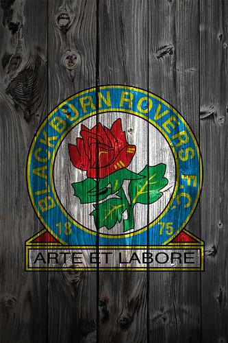 Blackburn Rovers Wood Iphone 4 Background Logo On Wood