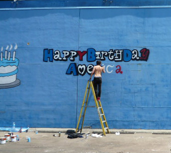 Happy Spray Paint