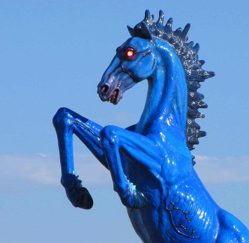 Blue Mustang Denver International Airport Colorado
