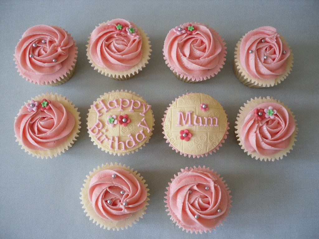 All sizes Happy Birthday Mum Cupcakes Flickr Photo Sharing