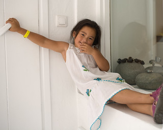 Mykonos:  Gwenny kicking back | by Donna & Andrew
