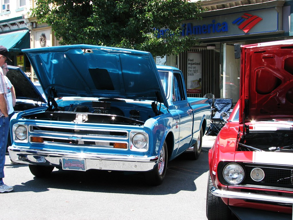 SOME OLD CHEVYS IN JULY 2010   A 1967 Chevy truck and A 1967…   Flickr