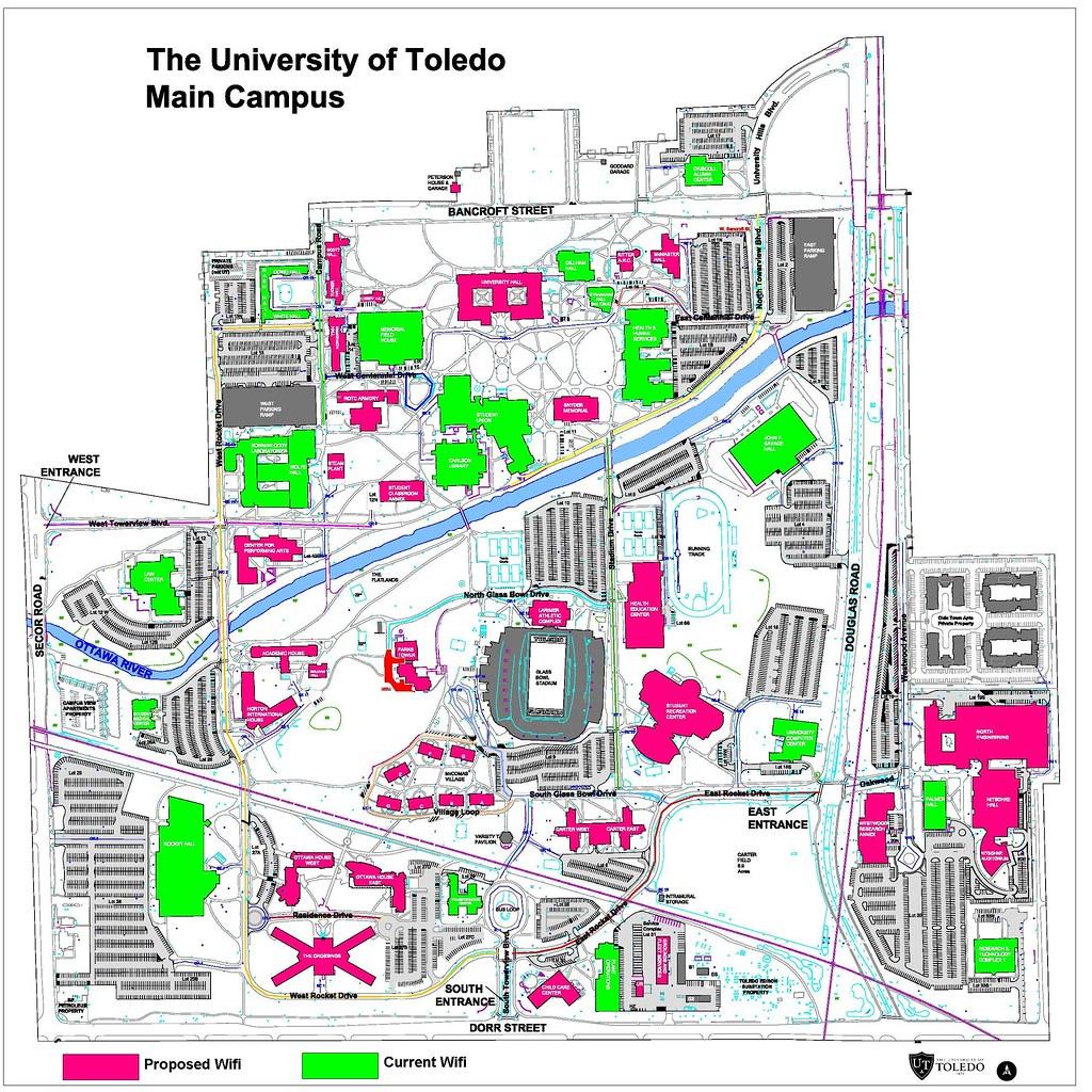 University Of Toledo Campus Map Krickneroh1 Flickr
