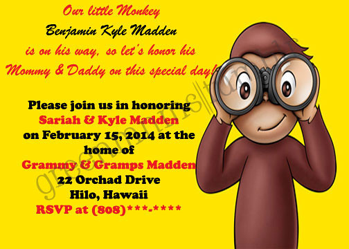 Curious george baby shower invitation this is just an exa flickr curious george baby shower invitation by tasiawasia filmwisefo