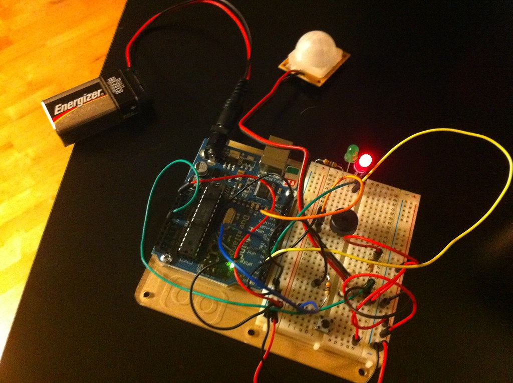 Disable a Motion Sensing Alarm with a Resistor Make