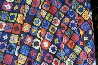 Granny Square printed on Quilting Weight Cotton | by Julia Monroe
